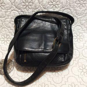 Evan Picone Black Leather Crossbody